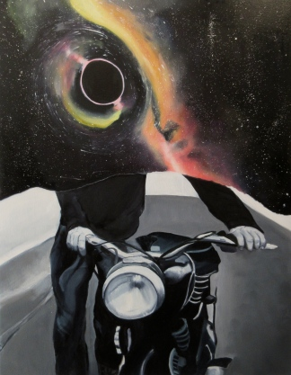 """Space Dust"" Oil on Canvas, 24"" x 36"""