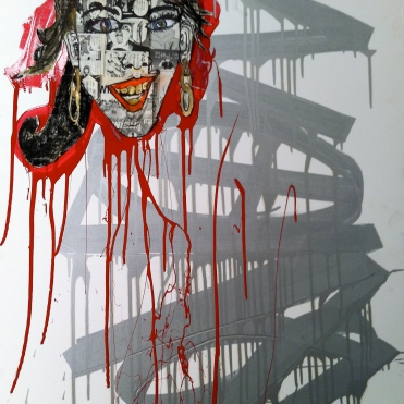 Collaboration with Devon Rock, mixed media, 2012