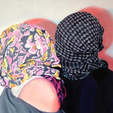 """""""Les Amants"""" Oil on Canvas"""