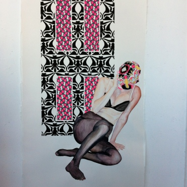 """""""Shadows of the Mind"""", watercolor and gouache on arches, 72in by 44 in, 2012"""