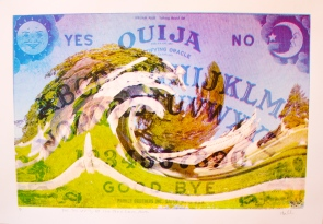 """For the Living, Let the Dead Come Alive (Ouija),"" CMYK Screenprint, 9.5 in x 14 in (11.5'' x 16'' with border), 2013."